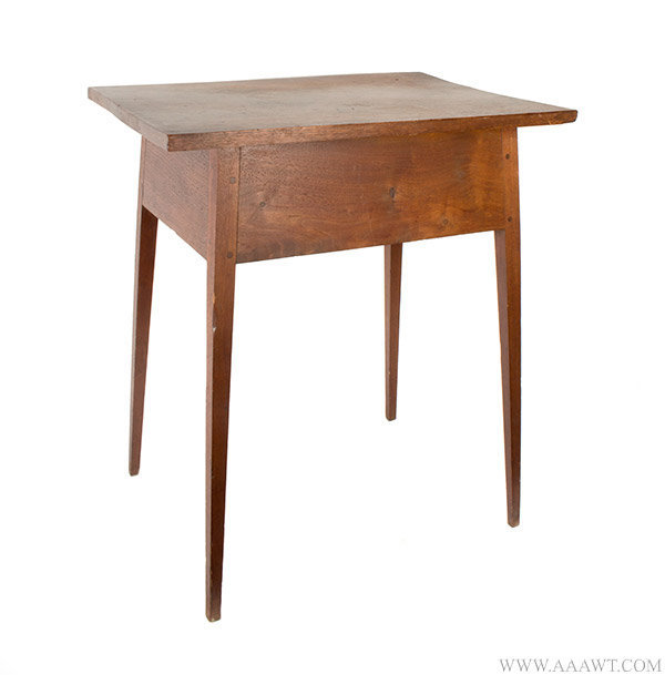 Antique Hepplewhite Tapered and Splayed Leg Table in Original Surface, Circa 1810, angle view 1
