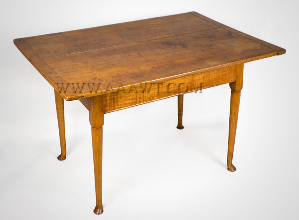 Tavern Table, Queen Anne Connecticut or Rhode Island Circa 1760-1770, angle view