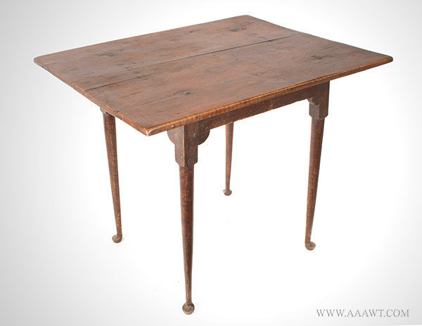 Queen Anne Tea Table, New Hampshire, Circa 1750, angle view