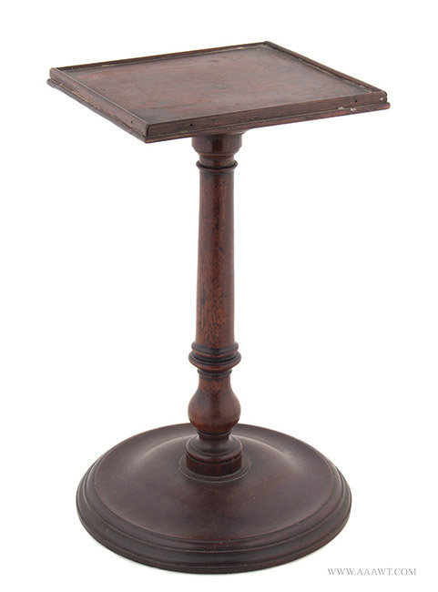 Antique Tabletop Turned Mahogany Tidy/Candlestand, 18th Century, angle view