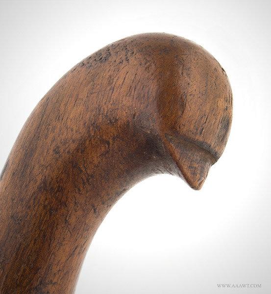 Antique Flintlock Tinder Pistol/Lighter with Birds Head Butt, 18th Century, butt detail