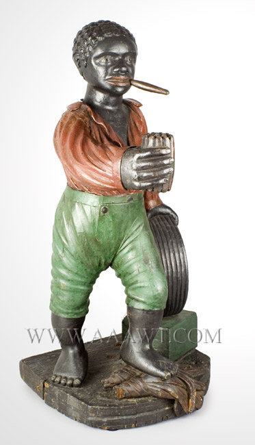 Antique Cigar Store Figure, Circa 1860 to 1870, Countertop, right angle view