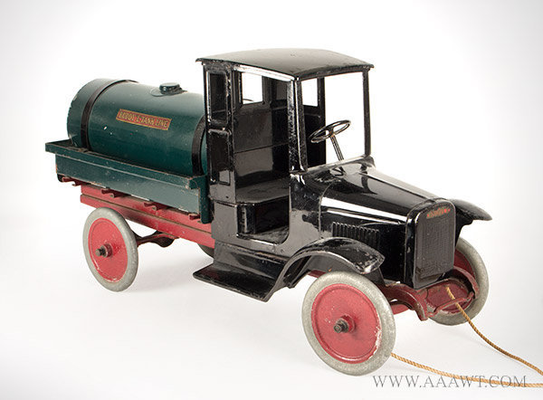 Antique Toy, Buddy 'L' Oil Truck, Circa 1925 to 1929, left angle view