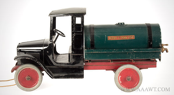 Antique Toy, Buddy 'L' Oil Truck, Circa 1925 to 1929, right angle view