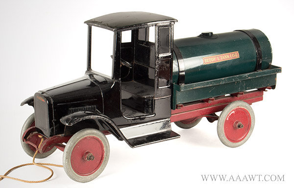 Antique Toy, Buddy 'L' Oil Truck, Circa 1925 to 1929, side view