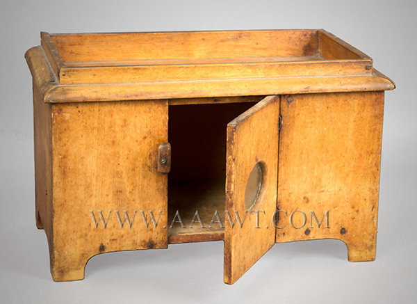 Childs Dry Sink Toy, Miniature, Glazed Door  Northeast, America  Mid 19th Century, entire view 2