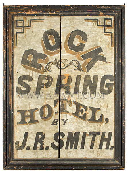 Antique Trade Sign, Rock Spring Hotel, Virginia, entire view