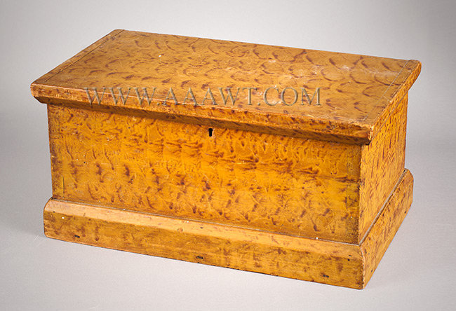 Paint Decorated Trunk, Document Box, Original Surface New England Early 19th Century, entire view