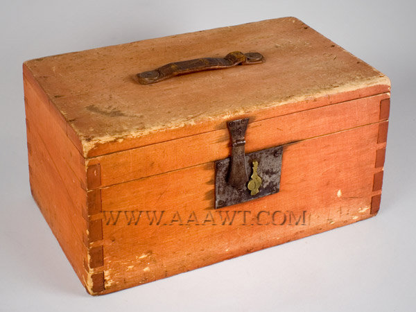 Trunk, Red Stain  Mid 19th Century  American  Poplar, entire view