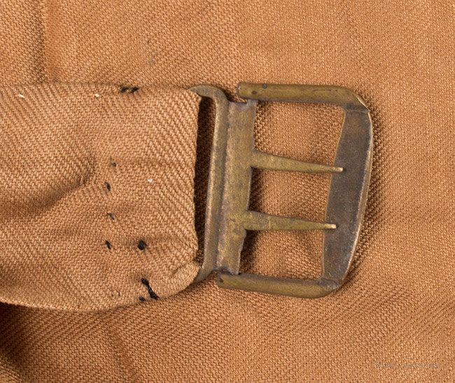 Antique Men's Corduroy Vest, Likely 19th Century, buckle detail