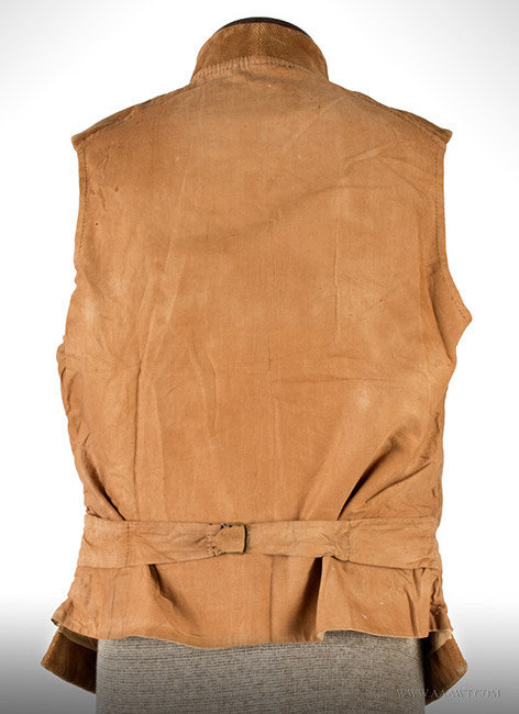 Antique Men's Corduroy Vest, Likely 19th Century, back view