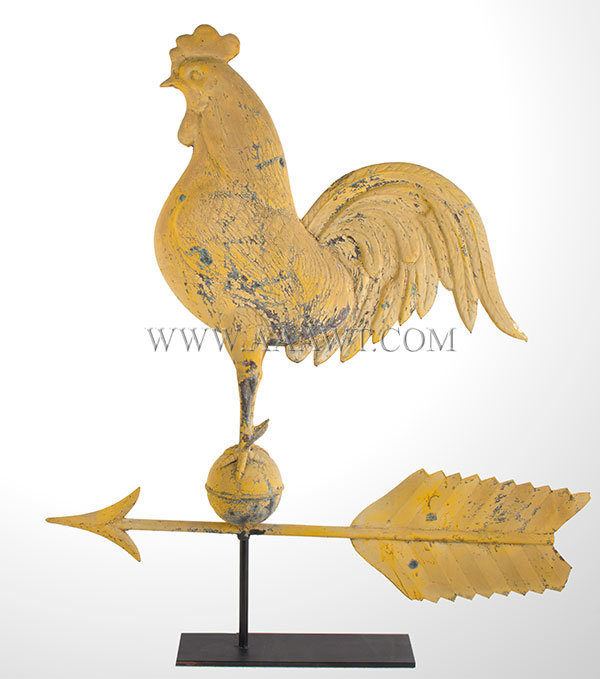 Antique Rooster Weathervane: Antique Weather Vanes, Weathervane, Windmill Weights