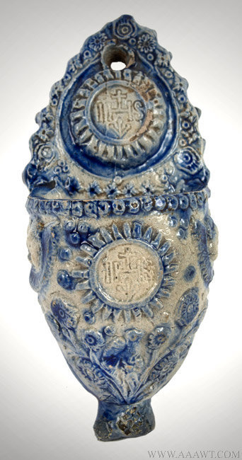 Antique Salt Glazed Westerwald  Stoneware Holy Water Font, Circa 1720 to 1740, view-1