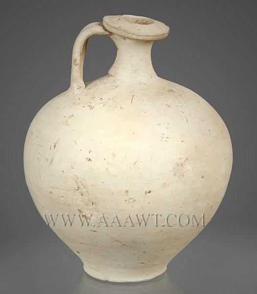 Wine Jug, White Ware, Gallo Roman Pottery, entire view 1