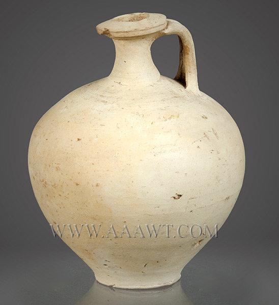 Wine Jug, White Ware, Gallo Roman Pottery, entire view 2