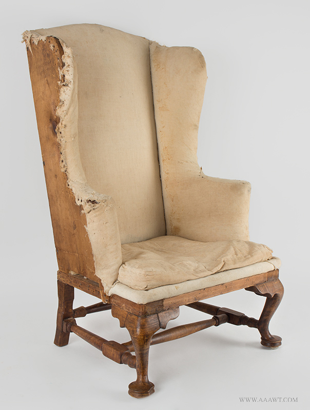 Antique Chippendale Back Stool, Unknown Maker, Circa 1750, angle view - Antique Furniture_Chairs Formal, Upholstered, Sofas
